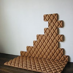 Sofa Brick. Make your own sofa...wall art...whatever! Awesome cork creations. by Aya Koike