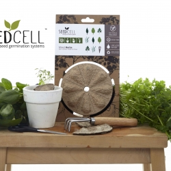 The SEEDCELL is a fun and unique gardening innovation for seed packaging providing a micro environment perfect for germination.