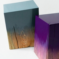 DRIFT are sculptures or tools between wood and lacquer designed by Judith Seng.