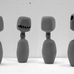 "A collection of cute ceramic bottles.. with one looking very halloweeny ! Designer Pim Wetzels presents ""Serie A"" at the Dutch Design Week this week."