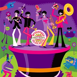 """SHAG does the Beatles! Dark Hall Mansion is currently selling their newest Beatles print, SHAG's """"May I Introduce to You"""", via lottery."""