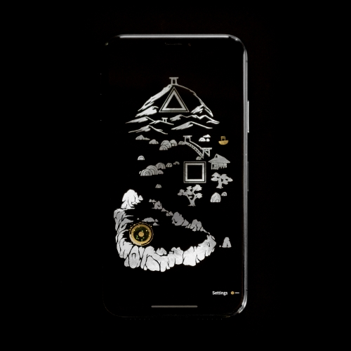 SHI•RO is a mobile game that brings the art of Japanese lacquerware to life in a player's hand. Gold and silver shimmer when they tilt their iPhone or iPad.