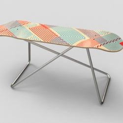 Skate Bench No.1 started out as a side project in our studio. The prototype was photographed and put up on our website. and soon published in '1000 Product designs' by Eric Chan.