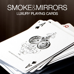 Illustrated by renowned artist Si Scott and developed by Dan and Dave Buck. Smoke & Mirrors are luxury playing cards printed on premium quality Aristocrat paper. Printed by the US Playing Card Company.