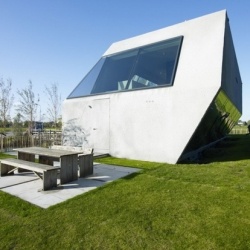 SODAE-House by  VMX Architecture has unusual geometry form. This house is located in Kostverlorenkade, an 1,200 sq m island between Amsterdam,