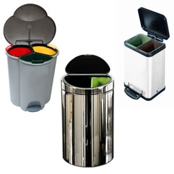 Compartmentalize your trash can, in style. Simple Human step aside, i think you've got some competition...