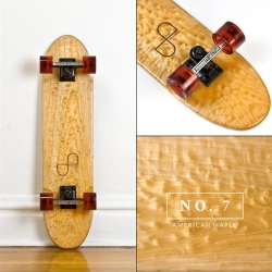 Side Project Skateboards is a pop-up shop featuring a limited edition of eighteen handmade, vintage-inspired skateboards crafted from choice American-made components and materials.