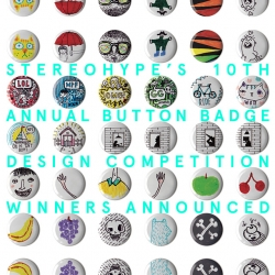 Just released: winners and shortlist with runners-up and stats of Stereohype's 10th anniversary doodles only button badge design competition – bringing the collection to a total of 1030 individual button badge designs by over 300 international talents.
