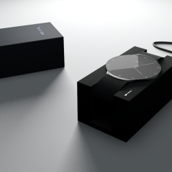 Touch Skin is the ultimate digital accessory – A touch sensitive watch that combines tradition and transcendence via classic minimalist analogue watch design. OLED touch screen and downloadable, customizable skins.
