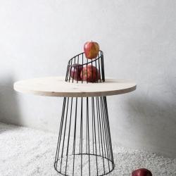 SYNTHESIS table by Presek Design studio, wood and steel furniture handmade
