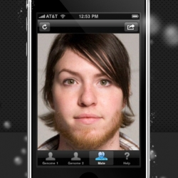 iMated - Hilarious iPhone application that mashes up two faces to see what your kid would look like.