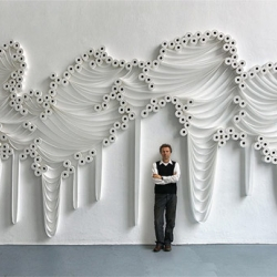 Incredible art installations made from ordinary toilet paper by artist Sakir Gökcebag.