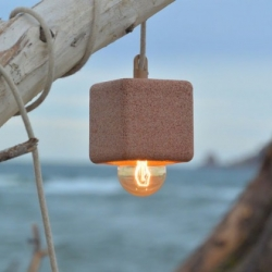 Alien and Monkey' Sand Light - The Barcelona-based design studio has created a light from sand using traditional ceramic techniques.