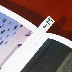 Paper bookmark with a Save icon on it. You can make your own digital to analog bookmark with this neat PDF.
