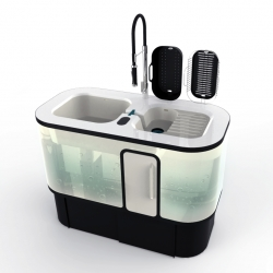 DuO is a kitchen greywater station for urban living by designer Joris Bonnesoeur.