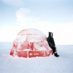 Photographer Scarlett Hooft Graafland spent four months living with the Eskimos in remotest north Canada to create her playful series of photos called You Winter, let's get divorced.