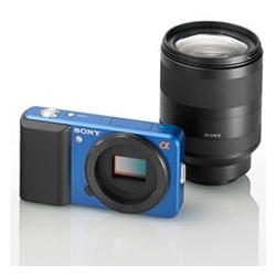 Sony is going to release super compact digital cameras that use interchangeable lenses. Combining only the positive characteristics of both systems, this camera make me want one! Love the design!