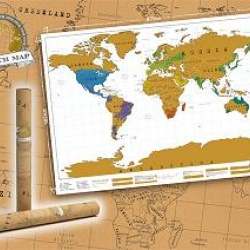 Everyone likes to show off how traveled they are, so why not show it off in style. Scratch off where you've been on this gold Scratchmap to reveal a different image underneath. Designed by Luckies of London.