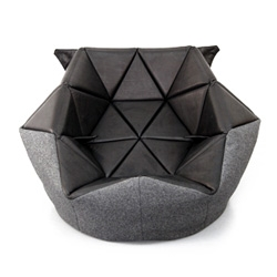 Marie by Antoinette Bader is a conventional bean bag given a refined triangular outline that can be molded into different forms.