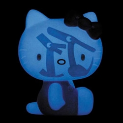 Perhaps my favorite Hello Kitty figure yet - Hello Kitty x Caperino & Peperone Figure - as hello kitty mania runs rampant, love that cap and pep only appear when glowing in the dark!