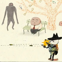 """""""The bench"""" (Le Banc), sweet animation made btween France and Belgium by award-winning illustrator Kitty Crowther and Bruno Salamone."""