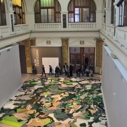 Camouflage carpeting by artist Gal Weinstein.