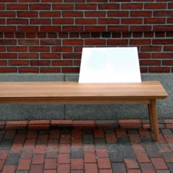 Founded on the premise that while benches are intended to seat multiple people, they are often only occupied by one, Sarah Pease's SOLO BENCH emphasizes the sole user.