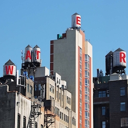 For the first time in history, New York City's iconic water tanks will be used as canvases for public art.