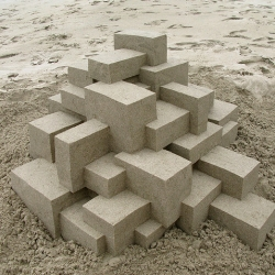 Sand Castles of Calvin Seibert (aka Box Builder) - lovely geometric creations!