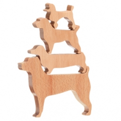 Muji wooden stacking dog puzzle