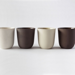 A Montreal based ceramic concept studio that produces refined porcelain pieces, Ceramik B.