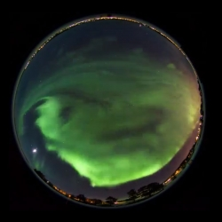 Four hours of Aurora Borealis compressed into three stunning minutes! By photographer Göran Strand using 2464 raw images.