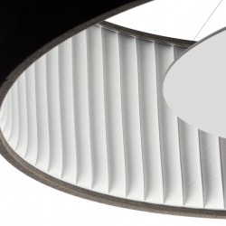 Silenzio is the new sound-absorbing collection of lamps designed by Monica Armani for Luceplan.