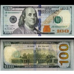 The new US $100 Bill coming in october ~ nice interactive view where you can see how the two sides look backlit, with UV light and more.