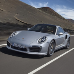Porsche celebrates 40 years of the 911 Turbo by unveiling the new beautiful 2014 Turbo and Turbo S. Love the headlight design that's reminiscent of past 911s and panoramic top.