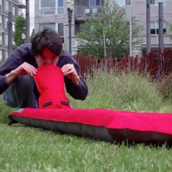 Ryan Frayne's Windcatcher - The fastest inflating, most efficient air pad ever - uses simple science over pumps and electricity.