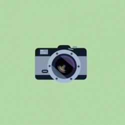 A hypnotic animated loop of transforming cameras.