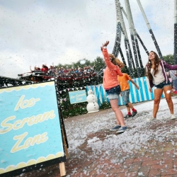 Isolated ice cream 'snow' showers at Thorpe Park