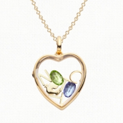 Loquet London ~ design your own gold framed crystal lockets filled with charms of your choosing... nice UI where you can grab and move the charms around as you design.