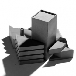 Tangram City Sculpture Puzzle by 22 Design, designed by Sean Yu & Yiting Cheng. Made of concrete!