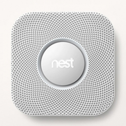 """Nest Protect ~ the Smoke and Carbon Monoxide Alarm. """"If there's a nuisance alarm, just stand under Nest Protect and wave your arm to hush the alert."""" It can also serve as a pathlight, and talk to your Nest Thermostat."""