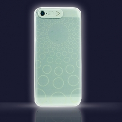 iCella VanD White LED Cover Flashing Clear Case for iPhone ~ nice concept where the LED alerts of the phone light up the grooves in the case.