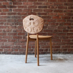 Anelise Shroeder blends Norwegian folk art and new technology with the Kubbe Chair, a contemporary take on a kubbestol carved via CNC router.