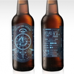 Atlas Brew Works' brand concept is focused on single color illustrated objects, highly detailed vector designs that represent the steam punk but are also associated with the larger story of the Atlas brand and the brewery's specific collection of craft beers.