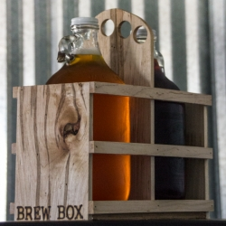 Craft Brew Box - Hand made growler carriers using reclaimed hardwoods to safely transport your brew!