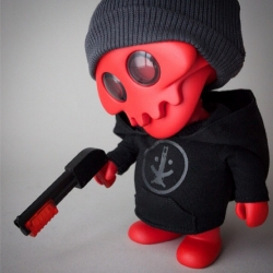 Ferg x Rotofugi SDCC Exclusive - JACK S004 [REDJACK] limited to 125 pieces and includes 2 sets of arms, shotgun with translucent accents, grey watch cap, smile fucker hoodie, patch and removable helmet!