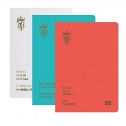 Gorgeous new passport design for Norway by Neue