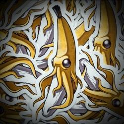 Banana Squid Stickers from Cole Lemke aka ChumpMagic