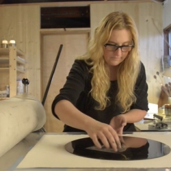 A walk through the monoprint process inside  the Portland, OR studio of Illustrator Amy Ruppel.