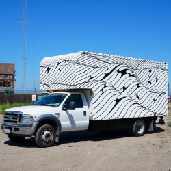 Brendan Monroe's new box truck is fantastic. Spot it around SF!